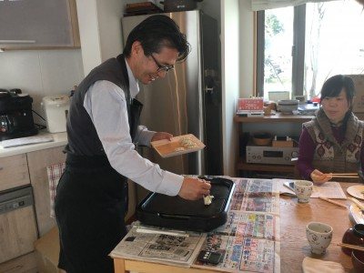 ヘルシー石焼料理体験&お食事会
